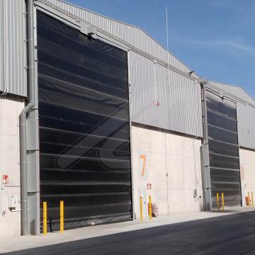 Instal·lació de portes ràpides amb certificació ATEX