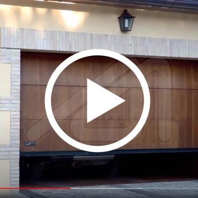 Wood sectional garage door