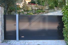 Puertas de garaje correderas Aluminio