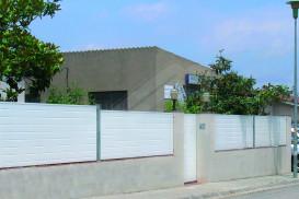 Valla perimetral de jardín panel Sándwich