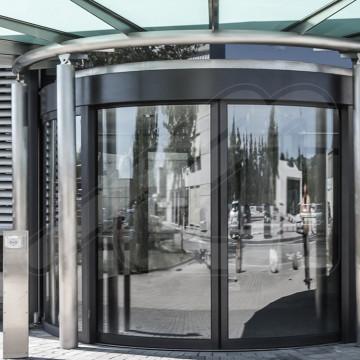 Puerta Pass-Glass Semicircular