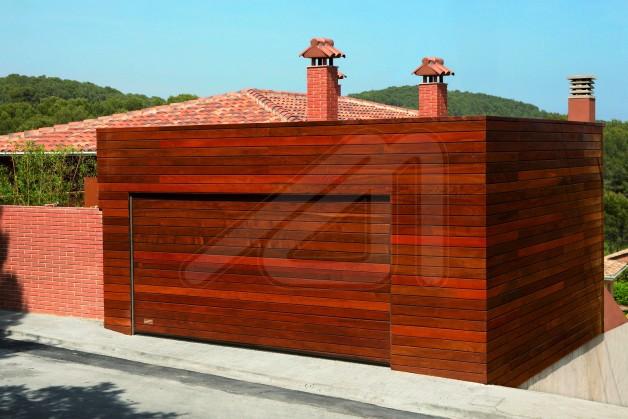 Puertas seccionales de garaje madera angel mir ngel mir - Puerta de lamas ...
