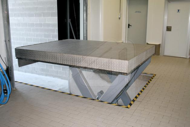 mesa elevadora para muelle de carga