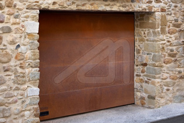 Merveilleux Sectional Garage Door Corten Sheet