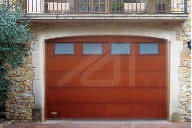 Sectional Garage Door Steel Corten Sheet Angel Mir Àngel