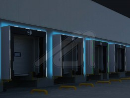 System of smart shelters with led lighting for loading docks - SIGNAL SHELTER