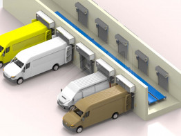 Specific loading set for parcel vans