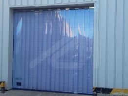 Curtain of transparent slats