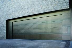 Puerta de garaje seccional chapa corten