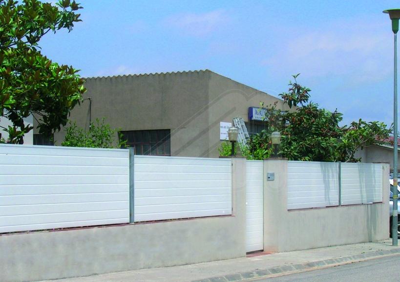 Valla perimetral de jardin acero angel mir ngel mir for Vallas de aluminio para jardin